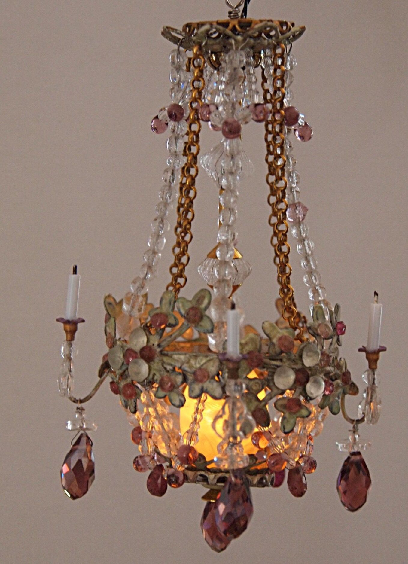 Beautiful miniature chandelier by cilla hallbert minst beautiful miniature chandelier by cilla hallbert minst arubaitofo Image collections