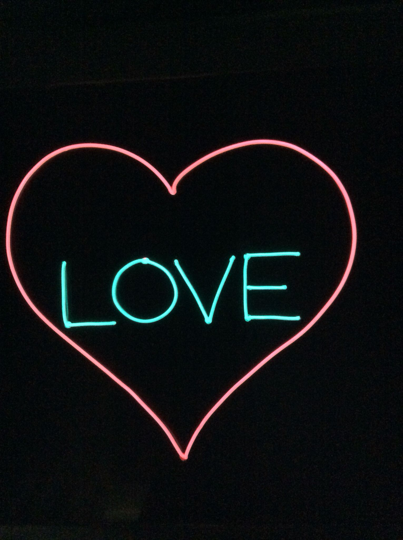 Love sign from El wire, light up North | EL Wire | Pinterest