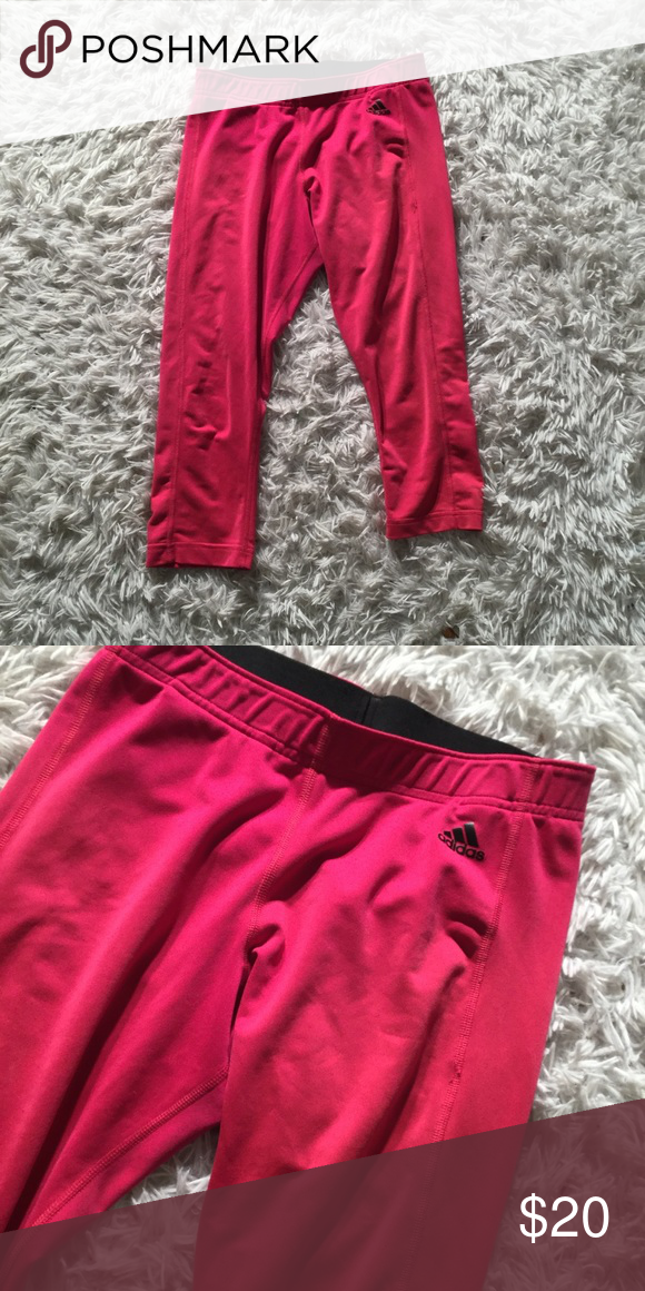 d0956e7fc66 Women's Adidas Pink Capri Leggings Medium Gently used, in great used  condition adidas Pants Leggings