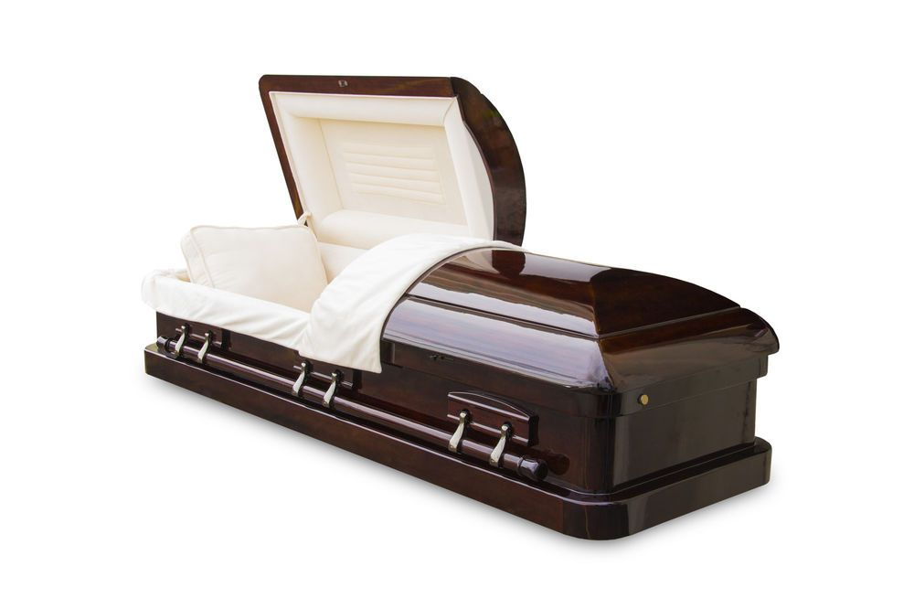 Exquisite Mahogany Solid Wood Funeral Burial Casket/Coffin ...