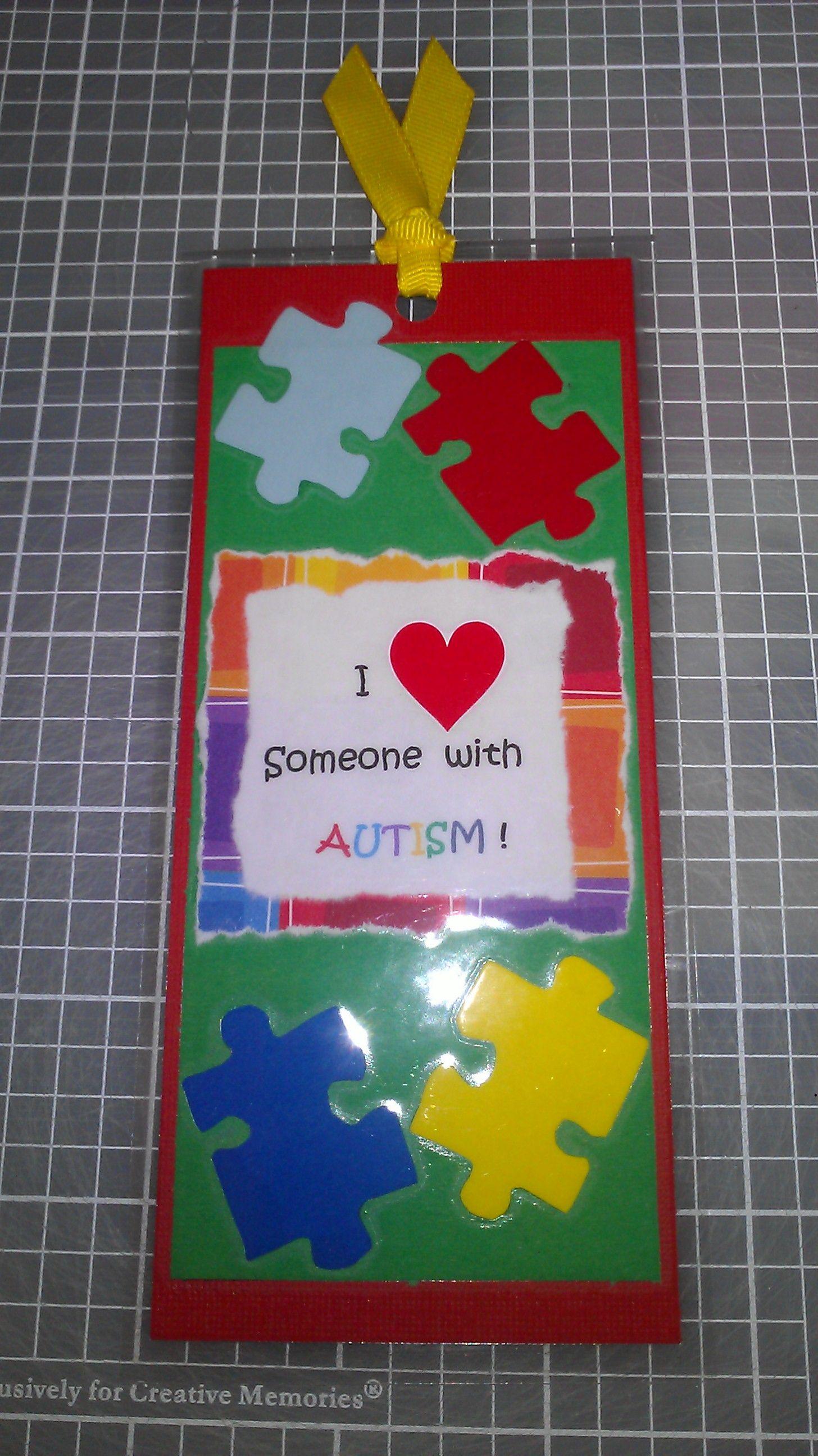Autism Awareness Bookmark Handmade By Me
