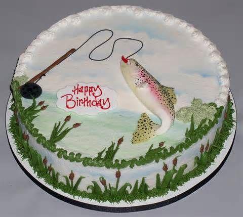 Happy Birthday Fish Cake Fish Cake Birthday Custom Birthday Cakes Best Birthday Cake Images