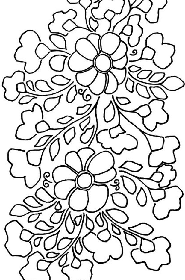 Mexican Floral Embroidery Pattern - Detail 1 | Diseño | Pinterest ...