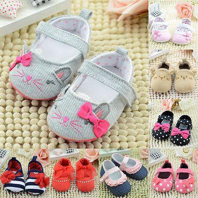 18 tipos Infantil Criança Menino recém-nascido Meninas Algodão Sola Macia Sapato 0-18M