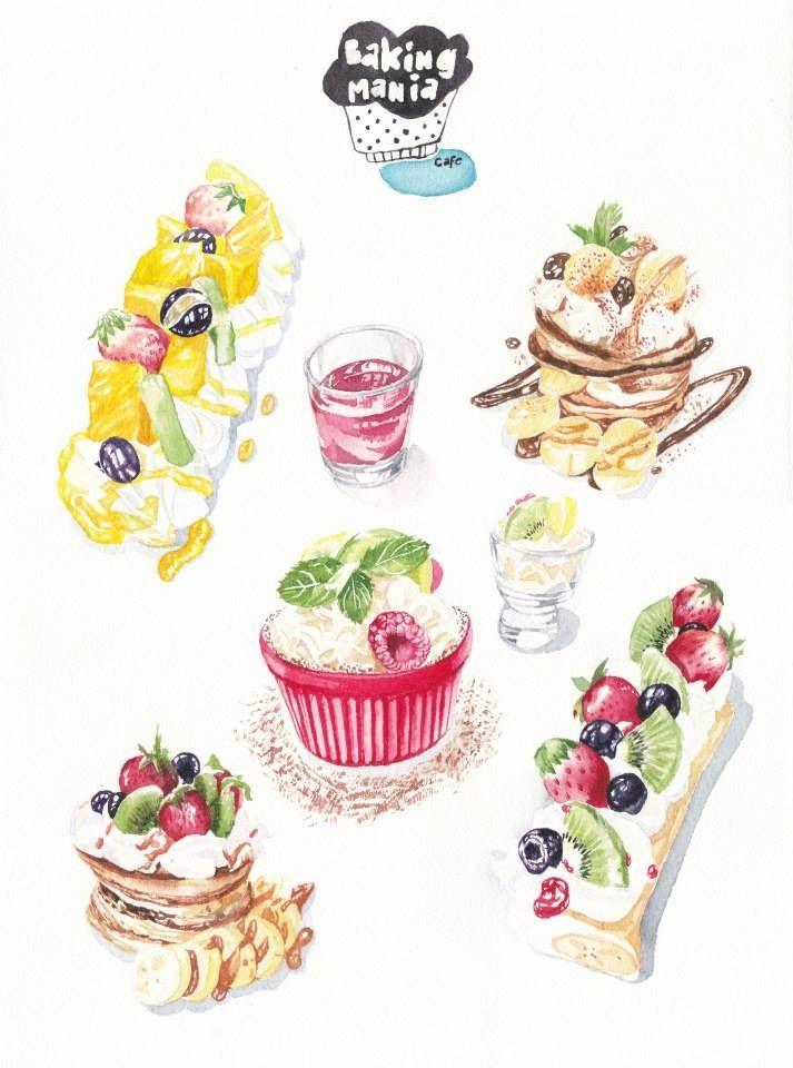 pin de suparat em water color painting pinterest bolos doces