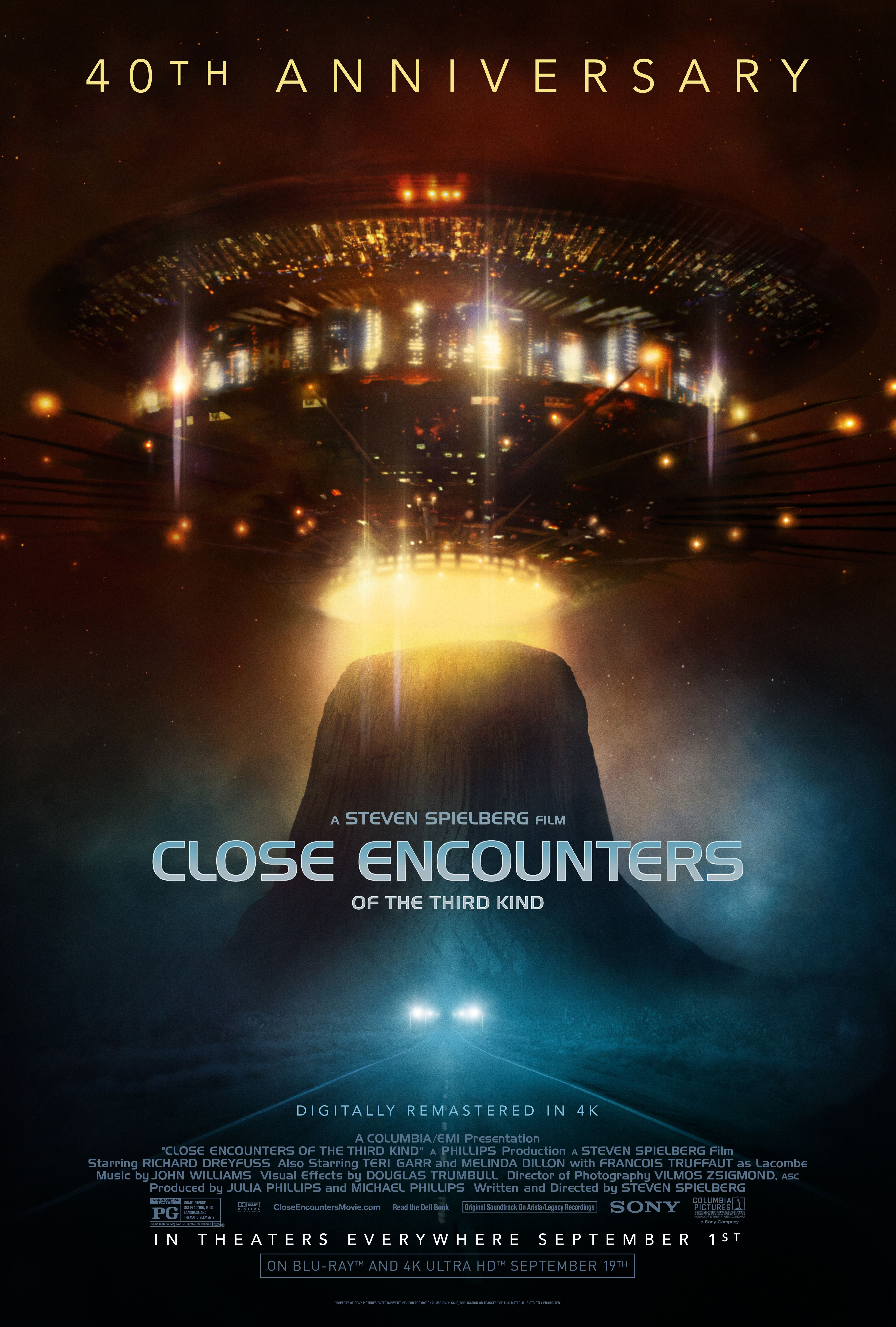 CHOOSE YOUR SIZE Close Encounters Poster Third Kind Spielberg Movie 40 FREE P+P