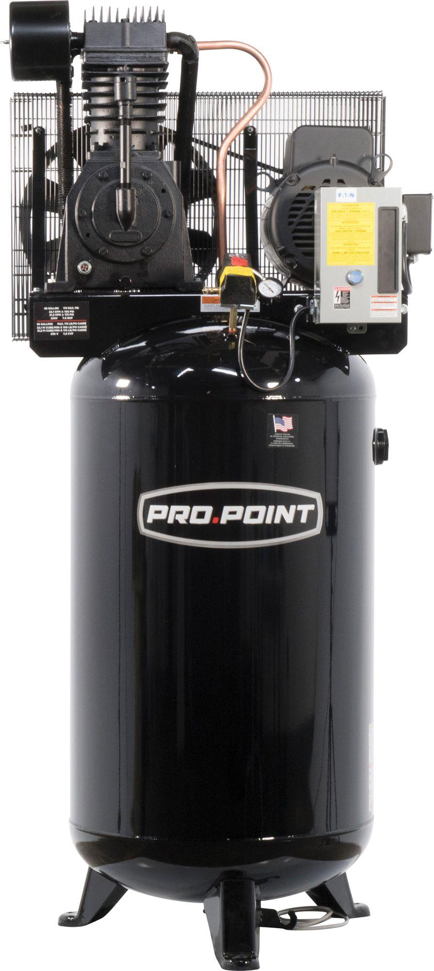 80 Gallon 2Stage Cast Iron Industrial Air Compressor Ferro