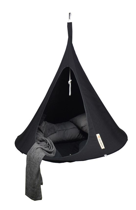 Cacoon Single Hammock   Black   Hanging Tent, Hanging Chair And Diy Swing