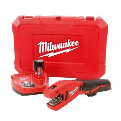 Milwaukee M12 12 Volt Lithium Ion Cordless Copper Tubing Cutter Kit With 1 5 Ah Battery Charger And Hard Case 2471 21 Tubing Cutter Cordless Reciprocating Saw Milwaukee M12