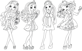 Etting Fairest Ever After High Coloring Page Briar Beauty Apple White Raven Queen