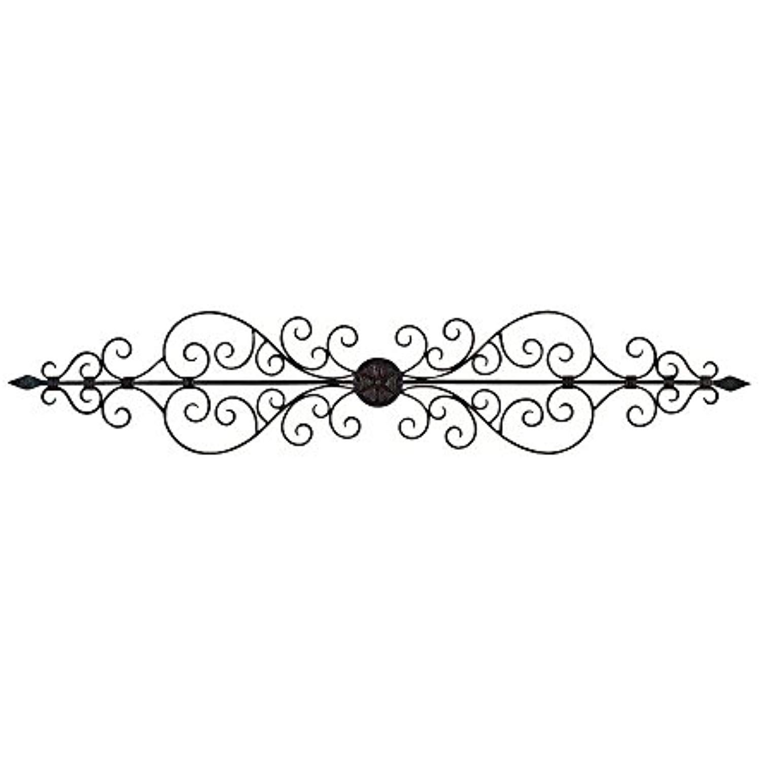Elegant metal scroll wall decor sculpture in read more at the