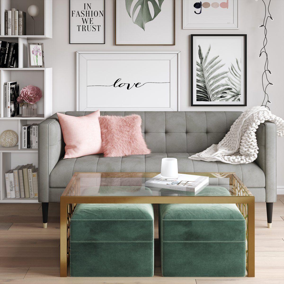 Juliette Sled Coffee Table Living Room Designs Glam Living Room Home Living Room