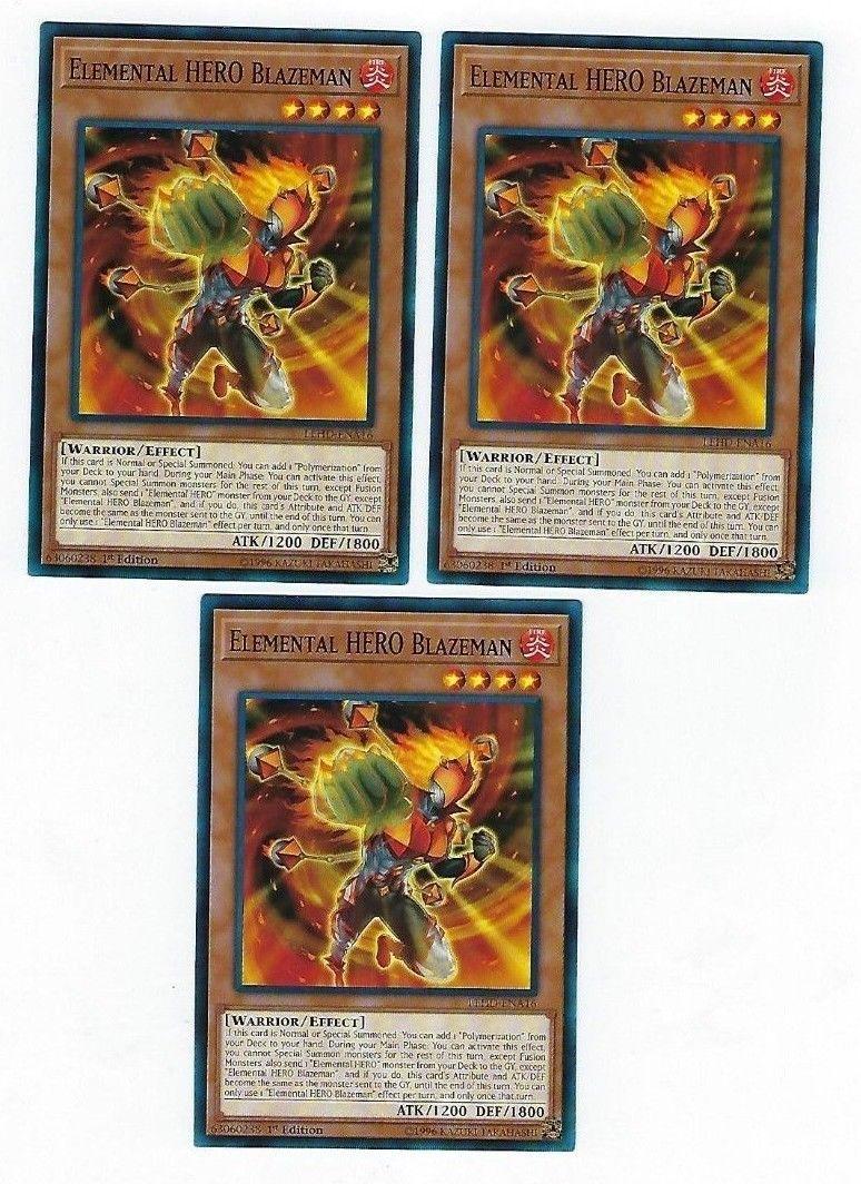 X YUGIOH ELEMENTAL HERO BLAZEMAN LEHDENA COMMON ST IN HAND
