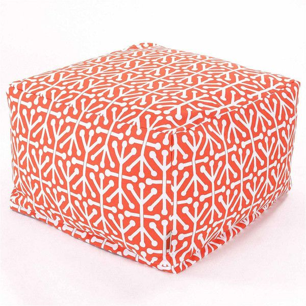 Indoor/Outdoor Large Ottoman ($113) ❤ liked on Polyvore featuring home, outdoors, patio furniture, outside patio furniture, outdoor furniture, outdoor bean bag furniture, outdoor patio furniture and outdoor garden furniture