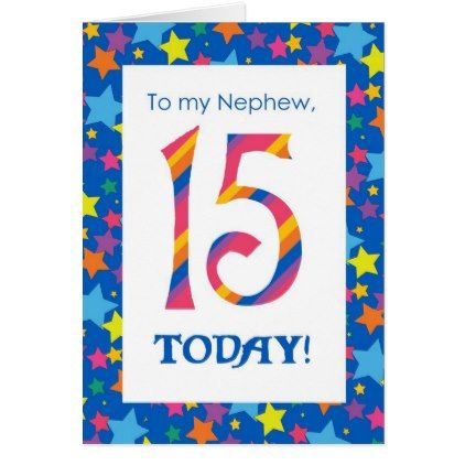 15th Birthday Card For Nephew Stripes And Stars Zazzle Com Birthday Cards For Son Birthday Cards For Friends Birthday Cards For Brother