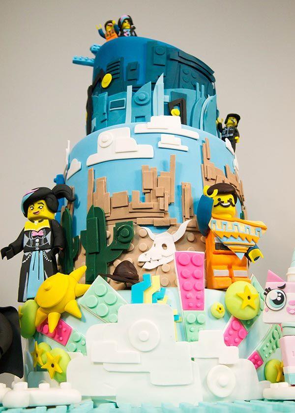 Superb Lego Movie Cake 2 Lego Movie Cake Movie Cakes Kids Cake Birthday Cards Printable Trancafe Filternl