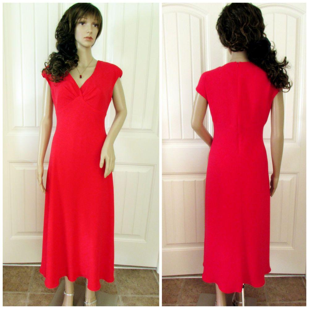 Red Dress Sleeveless Women Party Evening Formal Occasion Wedding Bridesmaid 8 #RenaRowan #EmpireWaist #Festive