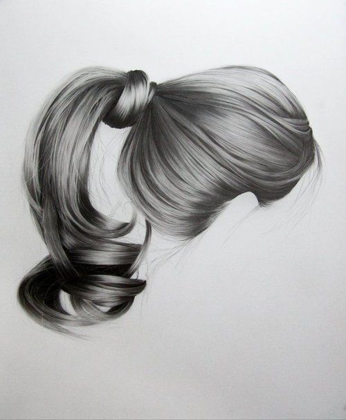 Hypnotic Portraits Of Hair Realistic Hair Drawing How To Draw Hair Hair Sketch