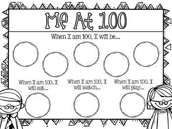 100th Day of School Writing Activity {Me at 100