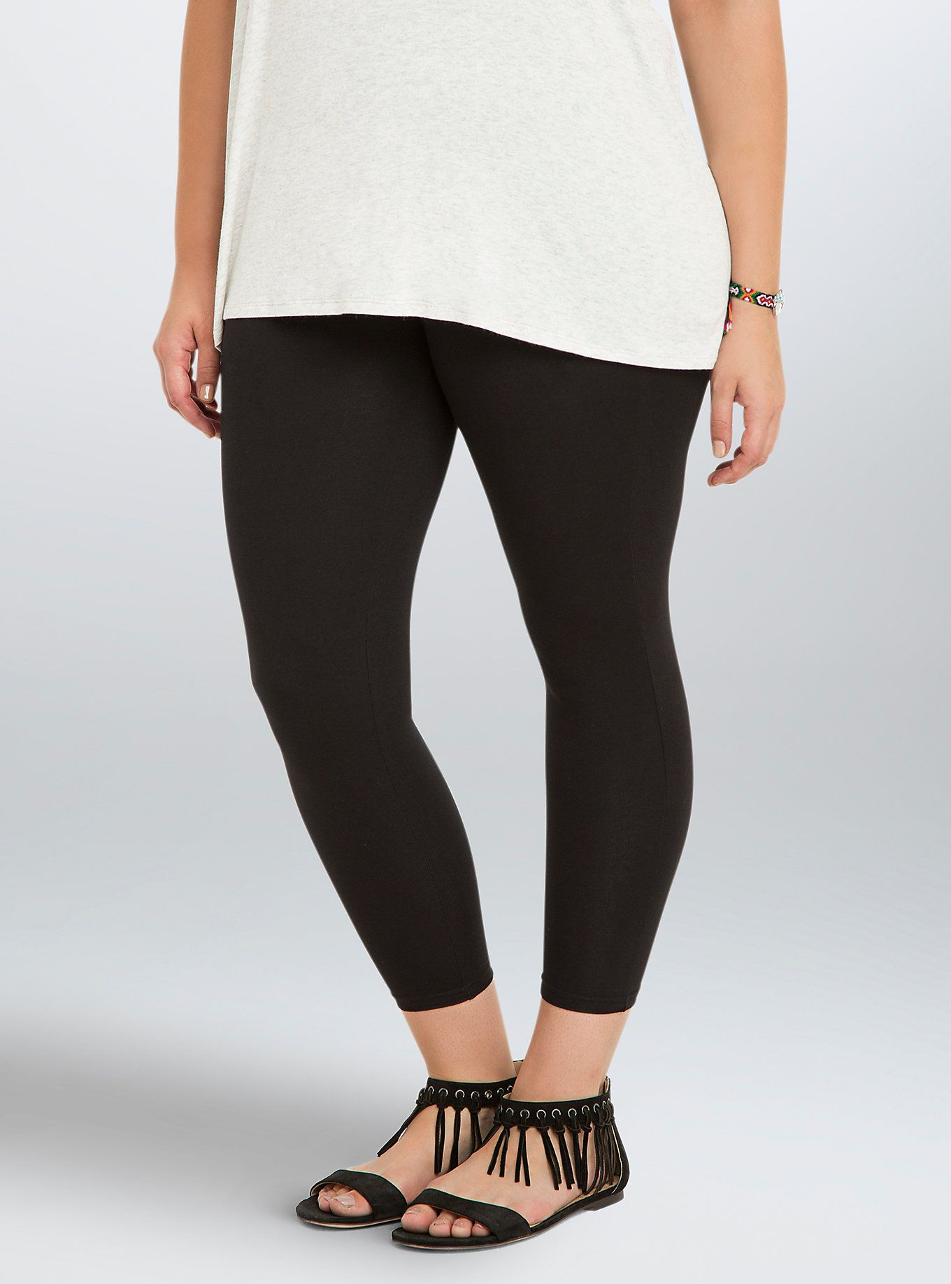 094ba26ae Our black Premium Leggings - now in a summer-ready crop - fit true to size  from top to bottom. We absolutely love the thicker fabric and the improved  ...