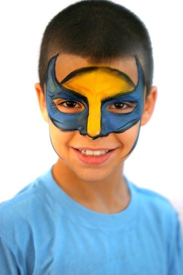 Pics For Gt Face Painting Superheroes Superhero Face