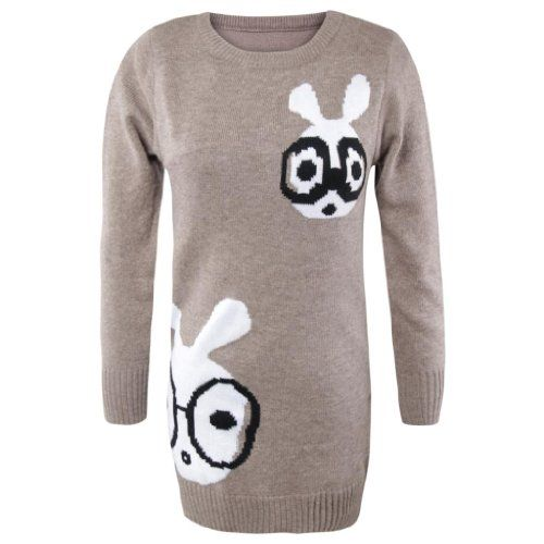 Gamiss Women's New Arrival Sweet Casual Loose-Fitting Animal Print Sweater,Khaki,Regular Sizing 12 Gamiss,http://www.amazon.com/dp/B00EJ3CSOU/ref=cm_sw_r_pi_dp_2XnQsb1ZZ0907E3D