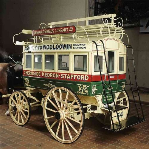 This Double-decker Horse-drawn Bus Was Made In The 1890s