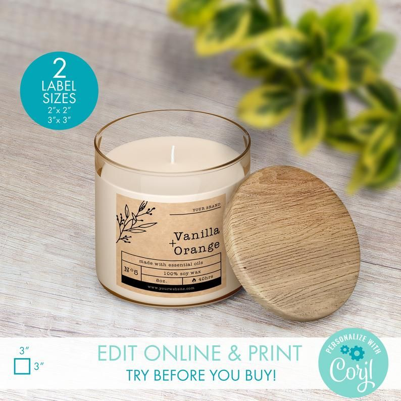 Editable Candle Label Template Download 2 X2 3 X3 Printable Candle Jar Product Label Diy Product Label Design Custom Candle Label Candle Labels Printable Candle Label Template Labels Printables Free Templates