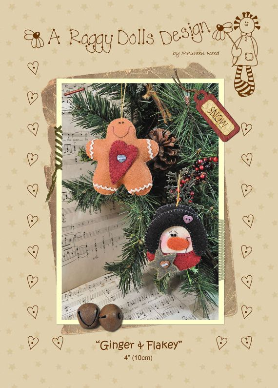 Ginger & Flakey Christmas Decorations Pattern (PDF)