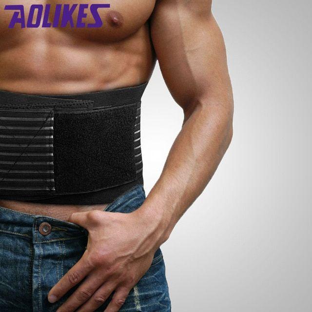 NEW AOLIKES Adjustable Lumbar Support Lower Waist Back Belt Brace Pain Relief