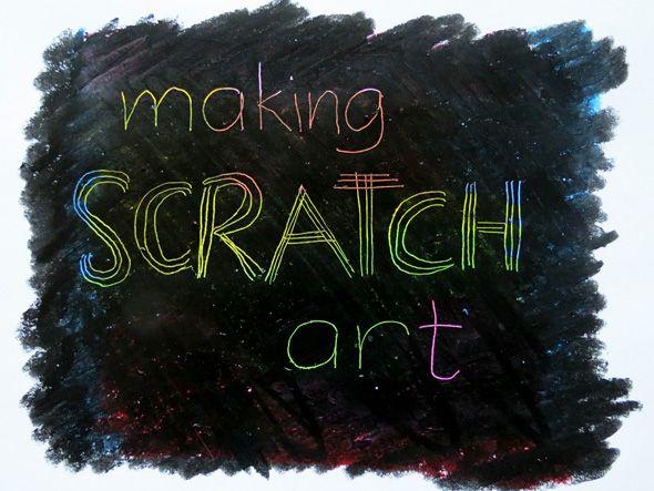 Kids Art Projects: Making Scratch Art