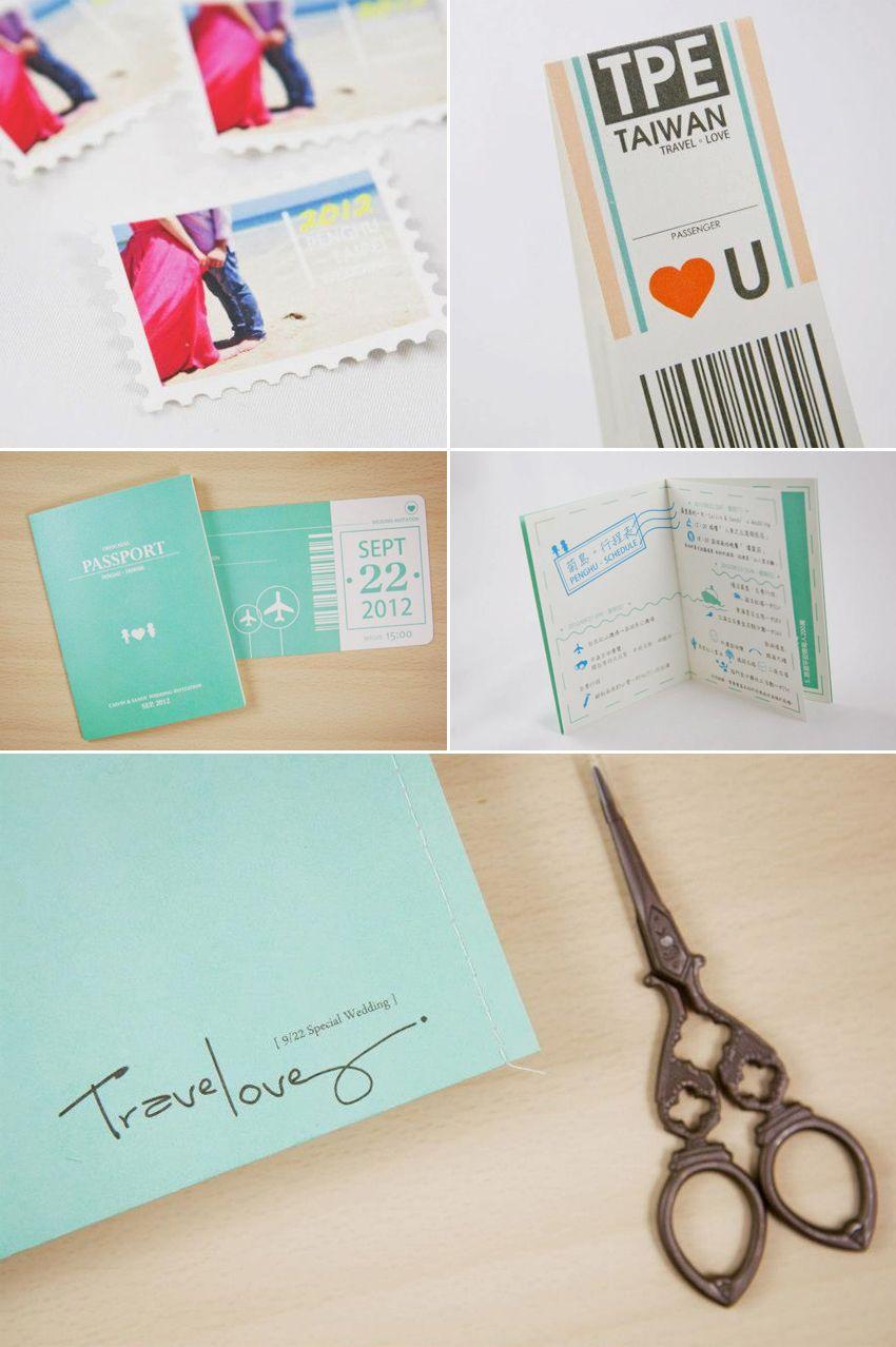Creative passport invitation (travel theme) | Wedding Designs ...