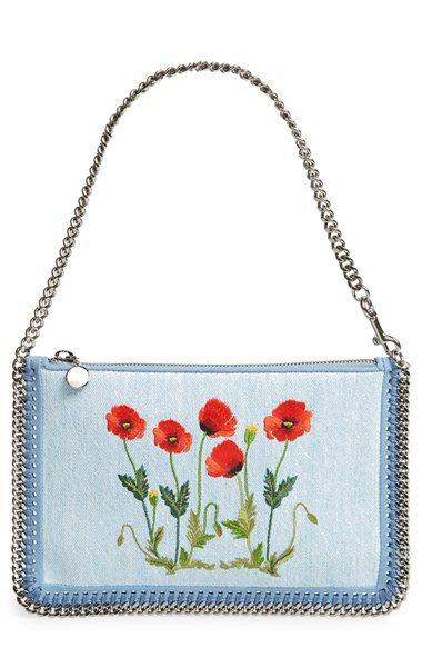 72470d13c573 Stella McCartney  Falabella  Floral Embroidered Denim Bag available at   Nordstrom