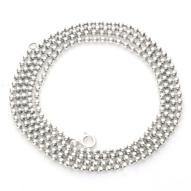 Fashion Bead Necklace in Sterling Silver - http://www.zivpin.com
