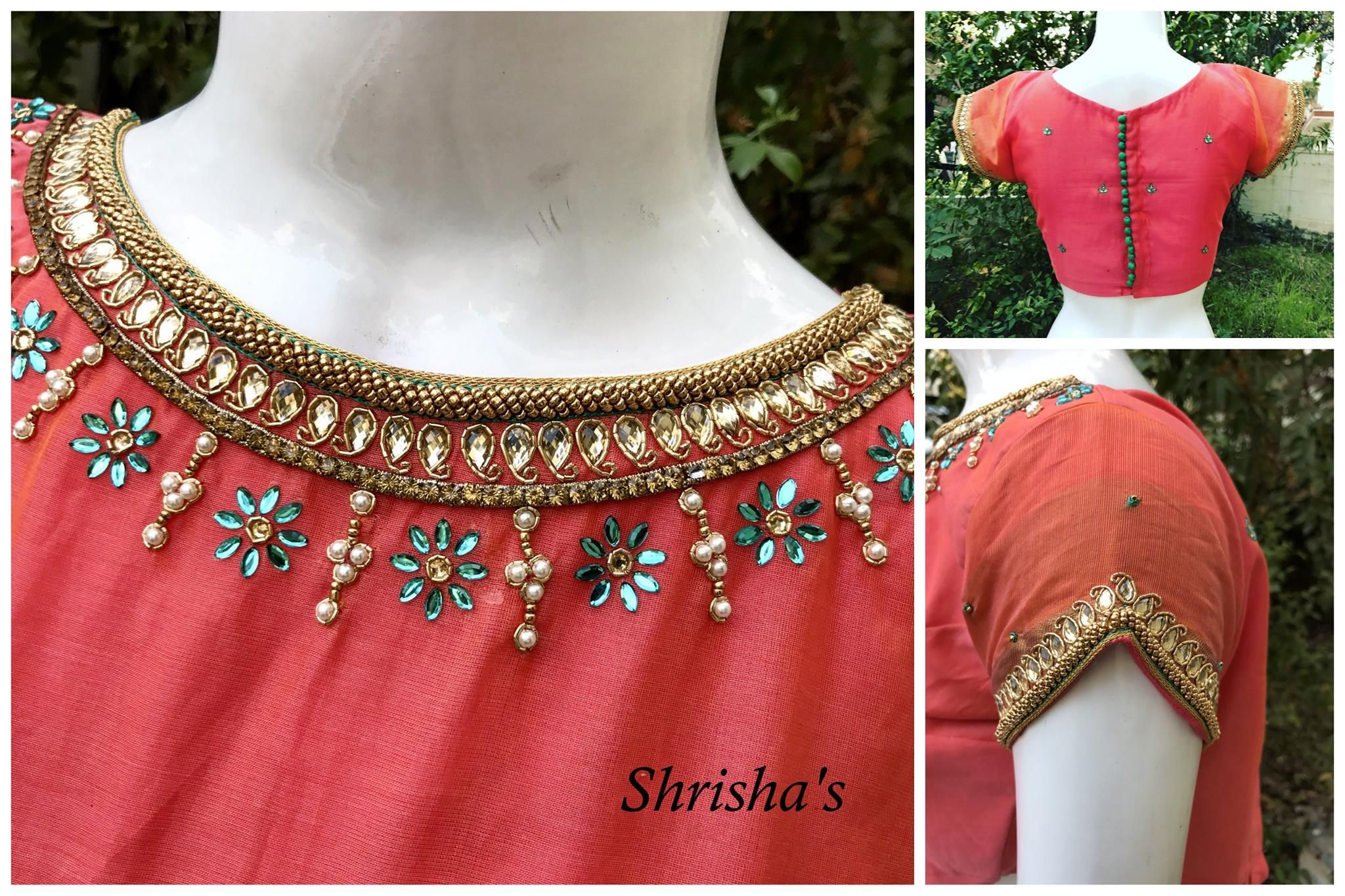 Shrishas Fashion Designer. Contact : 098946 14882.