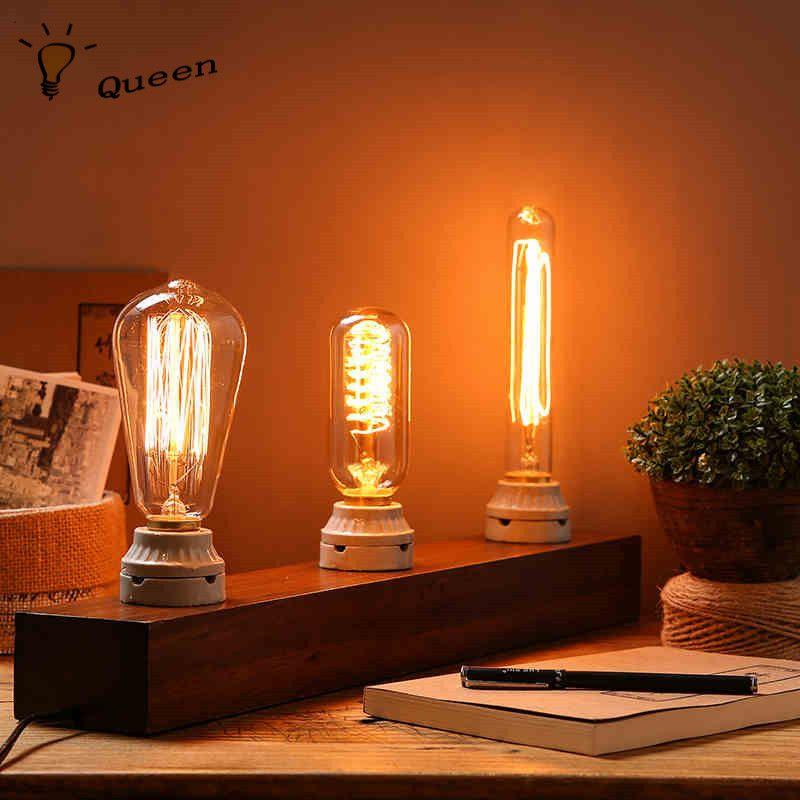 Blub Luz Do Vintage 220 V Lâmpada 40 W Lampada Edison Luzes Pingente  Lâmpada Incandescente Lâmpada Retro Casa E Ao Ar Livre Lighting Lampen