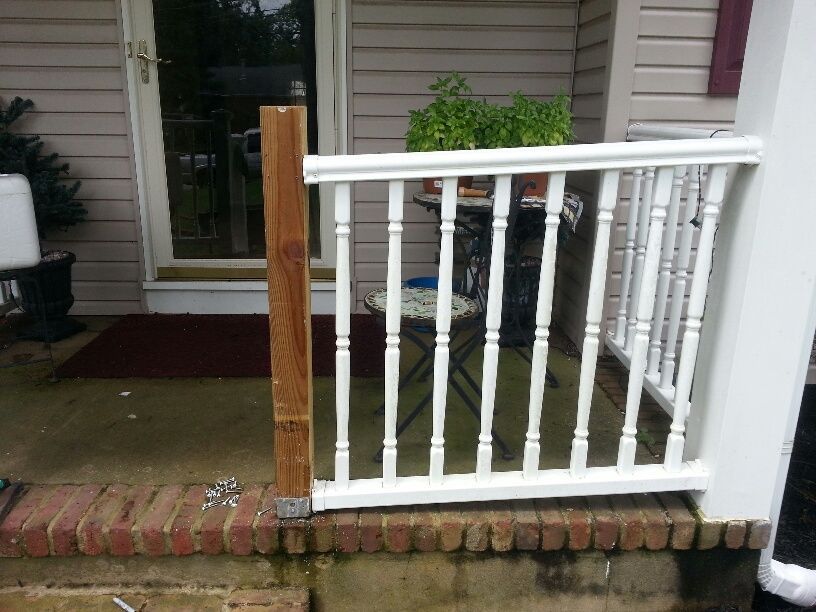 Railing on patio before replacement Home remodeling, Remodel