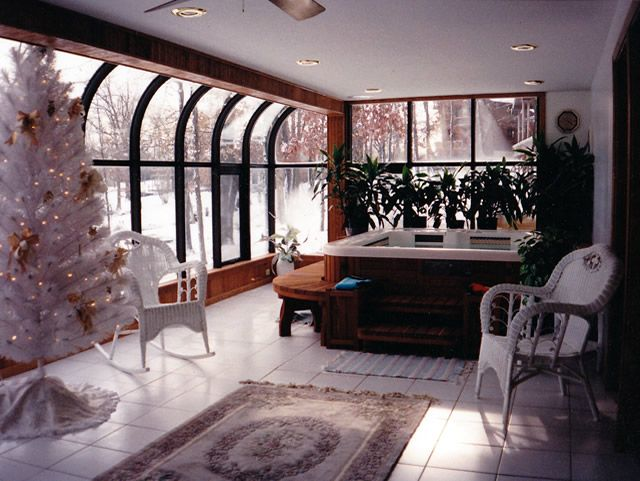 Sunroom With Hot Tub P Out To Create A Huge Area For The And Entertainment