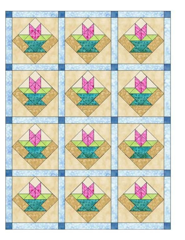 (7) Name: 'Quilting : New Jersey Quilt Block Flag
