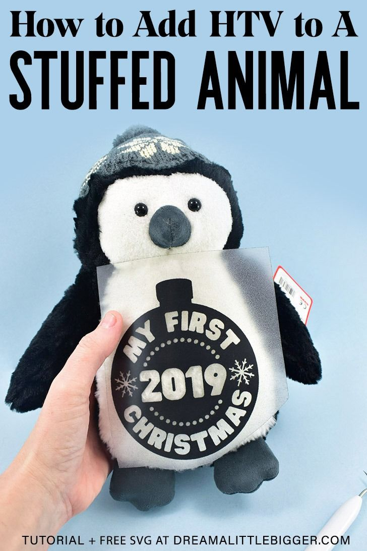 How to Apply HTV on a Stuffed Animal + Free Annual