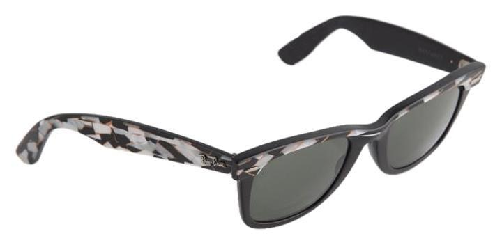 Ray Ban Mosiac Black Brown White Vintage Wayfarer Ii Sunglasses Rayban Wayfarer Black And Brown Sunglasses