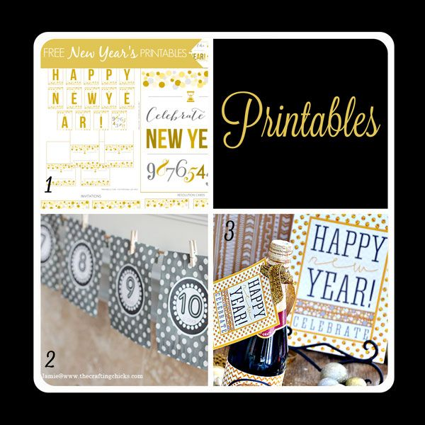 fabulous printables for your new years eve party