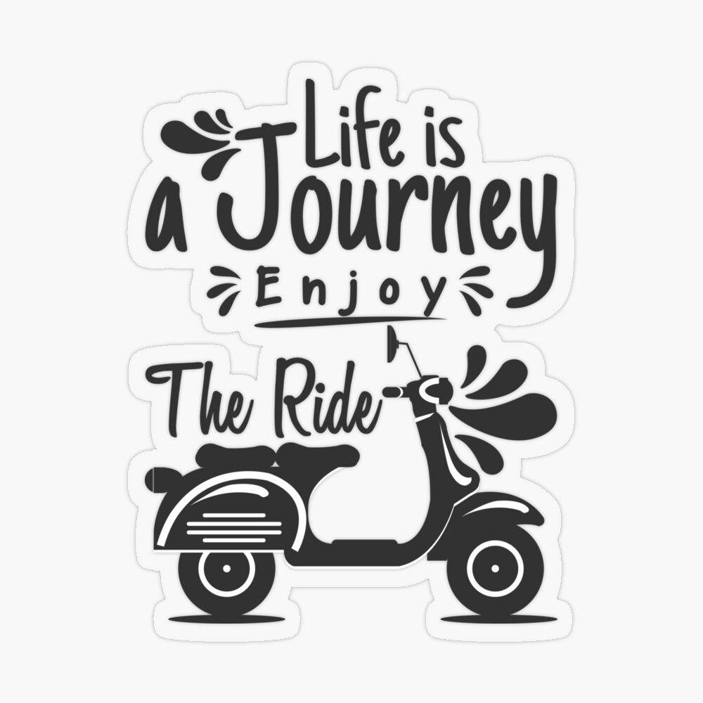 Sticker «Life is journey - enjoy the ride» par Fabien  Fablab