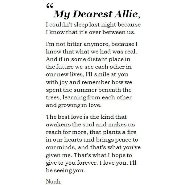 The Notebook Quotes The Notebook Quote Found On Polyvore  True Love  Pinterest