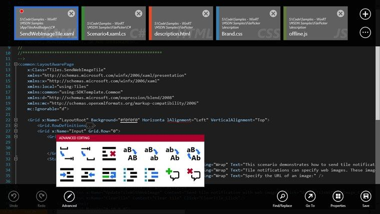 Code Writer // Code Writer is a free text and code editor