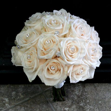 wedding bouquets with bling w flowers product bling wedding bouquet 155 wedding 8537