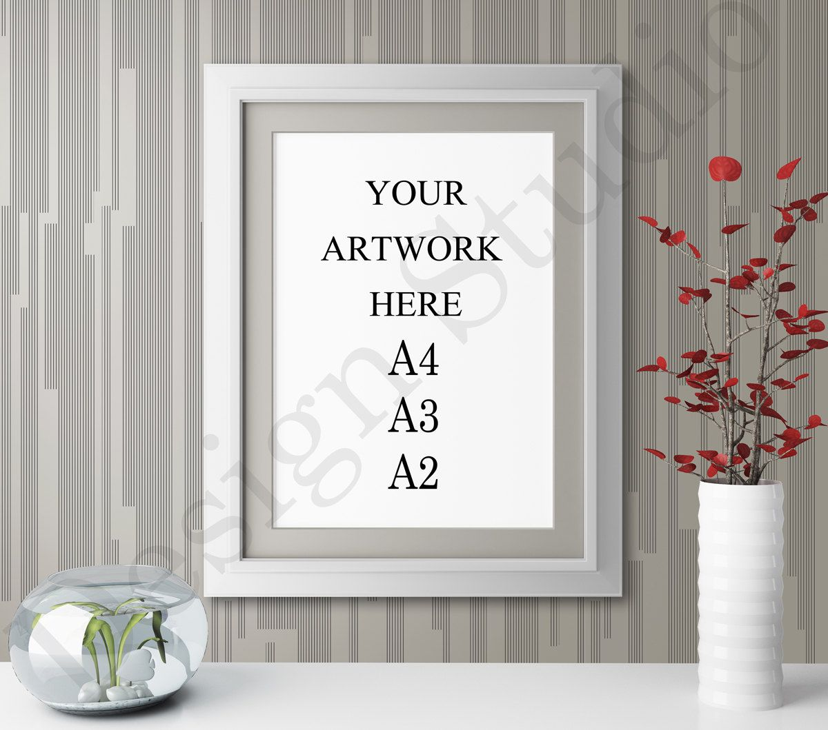 A2 White Frame A4 A3 A2 Vertical White Frame Mockup Wallpaper Background Etsy