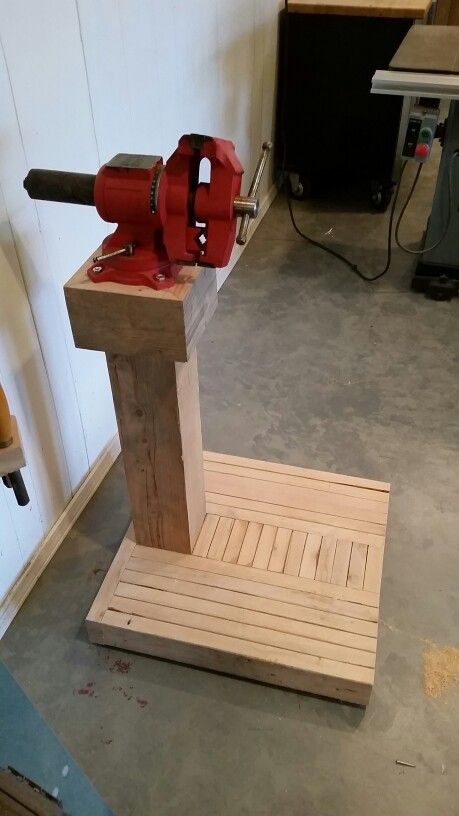 New Vise Stand Quick Woodworking Projects Woodworking Joints Router Woodworking