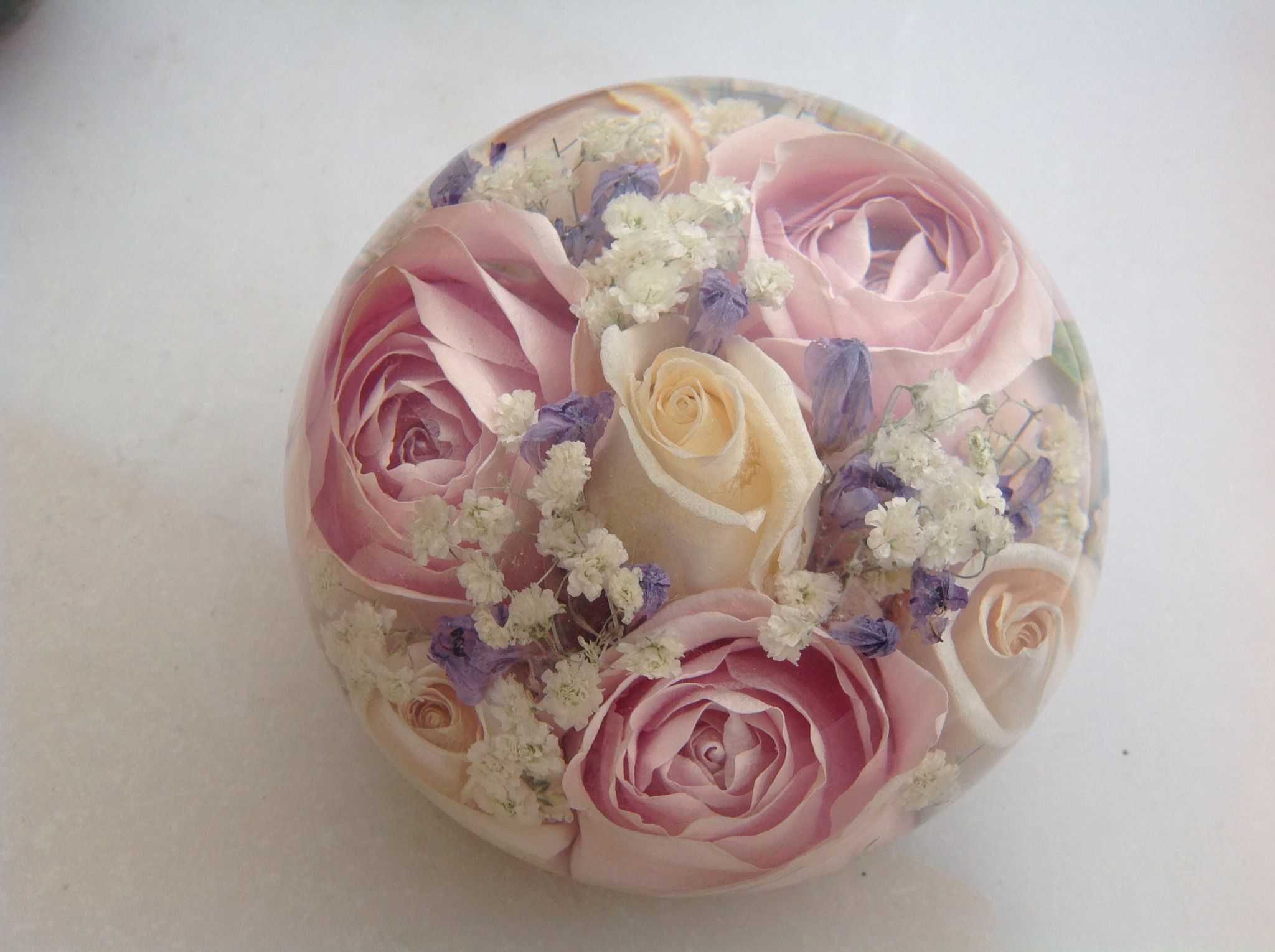 Flowers preserved forever in our luxury design of wedding