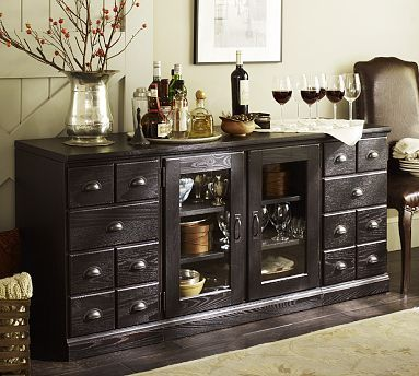 Printers Large Buffet Artisanal Black stain  Stains Stain wood
